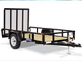 5' x 10' Tube Top Utility Trailer